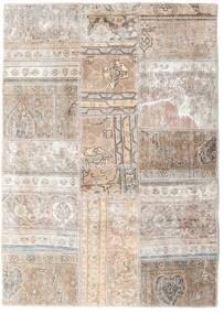 Patchwork - Persien/Iran Matta 109X155 Äkta Modern Handknuten Ljusgrå/Vit/Cremefärgad (Ull, Persien/Iran)