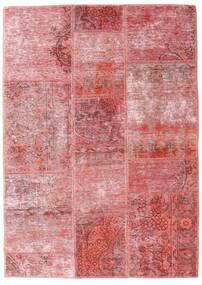 Patchwork - Persien/Iran Matta 107X151 Äkta Modern Handknuten Ljusrosa/Mörkröd (Ull, Persien/Iran)