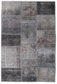 Patchwork - Persien/Iran Matta 104X155 Äkta Modern Handknuten Mörkgrå/Ljusgrå (Ull, Persien/Iran)