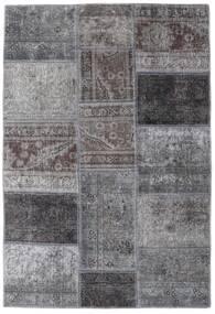 Patchwork - Persien/Iran Matta 107X157 Äkta Modern Handknuten Ljusgrå/Mörkgrå (Ull, Persien/Iran)
