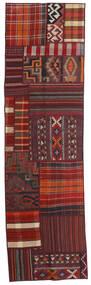 Tekkeh Kelim Matta 71X250 Äkta Modern Handvävd Hallmatta Mörkröd (Ull, Persien/Iran)
