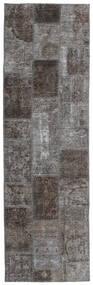 Patchwork - Persien/Iran Matta 77X256 Äkta Modern Handknuten Hallmatta Mörkgrå/Ljusgrå (Ull, Persien/Iran)