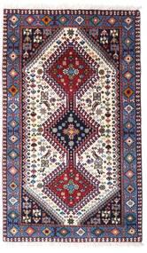 Yalameh Matta 80X132 Äkta Orientalisk Handknuten Mörklila/Beige (Ull, Persien/Iran)