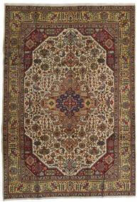 Tabriz Matta 210X300 Äkta Orientalisk Handknuten Mörkröd/Mörkgrå (Ull, Persien/Iran)