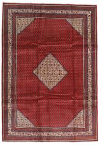 Sarough Mir Matta 214X305 Äkta Orientalisk Handknuten Mörkröd/Svart (Ull, Persien/Iran)