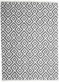 Bambu Silke Kelim Matta 300X400 Äkta Modern Handvävd Ljusgrå/Mörkgrå/Vit/Cremefärgad Stor (Ull/Bambusilke, Indien)