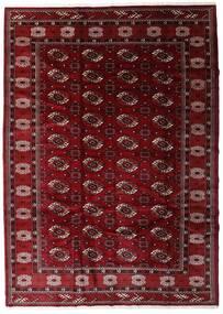 Turkaman Matta 204X285 Äkta Orientalisk Handknuten Mörkröd/Mörkbrun (Ull, Persien/Iran)