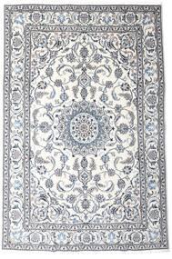 Nain Matta 191X287 Äkta Orientalisk Handknuten Vit/Cremefärgad/Ljusgrå (Ull, Persien/Iran)