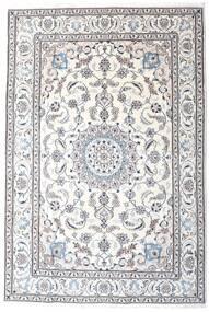 Nain Matta 200X295 Äkta Orientalisk Handknuten Vit/Cremefärgad/Ljusgrå/Beige (Ull, Persien/Iran)