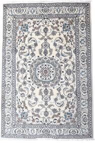 Nain Matta 200X298 Äkta Orientalisk Handknuten Ljusgrå/Vit/Cremefärgad (Ull, Persien/Iran)