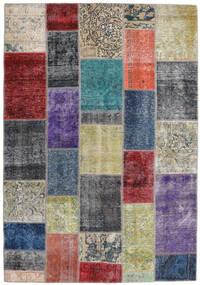 Patchwork - Persien/Iran Matta 168X241 Äkta Modern Handknuten Mörkgrå/Ljusgrå (Ull, Persien/Iran)