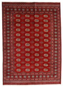 Pakistan Bokhara 3Ply Matta 174X240 Äkta Orientalisk Handknuten Mörkröd/Roströd (Ull, Pakistan)