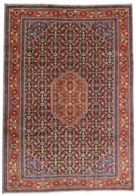 Ardebil Matta 234X330 Äkta Orientalisk Handknuten Mörkröd/Mörkbrun (Ull, Persien/Iran)