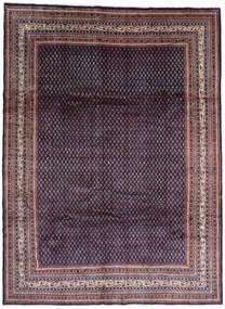 Sarough Mir Matta 268X365 Äkta Orientalisk Handknuten Svart/Mörklila Stor (Ull, Persien/Iran)