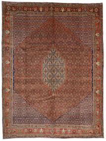 Bidjar Matta 308X408 Äkta Orientalisk Handknuten Mörkröd/Mörkbrun Stor (Ull, Persien/Iran)