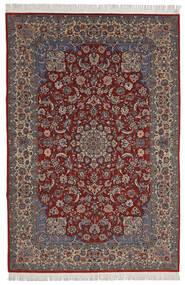 Isfahan Sherkat Farsh Matta 200X300 Äkta Orientalisk Handknuten Mörkröd/Mörkbrun (Ull/Silke, Persien/Iran)