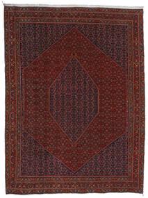 Bidjar Matta 304X404 Äkta Orientalisk Handknuten Mörkröd/Mörkbrun Stor (Ull, Persien/Iran)