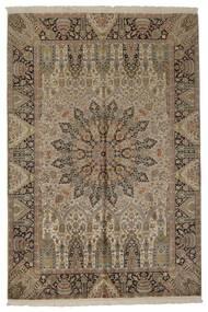 Kashmir Äkta Silke Matta 188X279 Äkta Orientalisk Handvävd Ljusbrun/Ljusgrå (Silke, Indien)