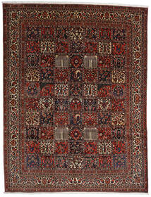 Bakhtiar Matta 298X390 Äkta Orientalisk Handknuten Mörkbrun/Mörkröd Stor (Ull, Persien/Iran)