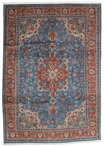 Tabriz Matta 204X290 Äkta Orientalisk Handknuten Mörkgrå/Ljusgrå (Ull, Persien/Iran)