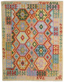 Kelim Afghan Old Style Matta 152X198 Äkta Orientalisk Handvävd Ljusgrå/Röd (Ull, Afghanistan)