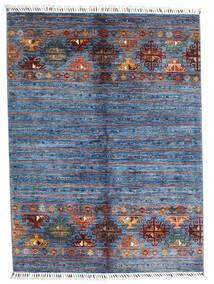 Shabargan Matta 153X204 Äkta Modern Handknuten Blå/Ljusblå (Ull, Afghanistan)
