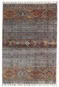 Shabargan Matta 102X146 Äkta Modern Handknuten Mörkgrå/Ljusgrå (Ull, Afghanistan)