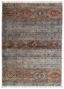 Shabargan Matta 102X146 Äkta Modern Handknuten Ljusgrå/Mörkgrå (Ull, Afghanistan)