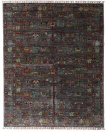 Shabargan Matta 159X195 Äkta Modern Handknuten Mörkbrun/Mörkgrå (Ull, Afghanistan)