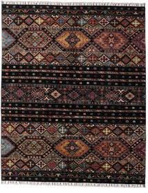 Shabargan Matta 156X190 Äkta Modern Handknuten Mörkbrun/Mörkgrå (Ull, Afghanistan)