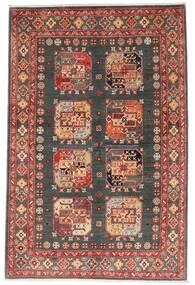 Kazak Matta 118X179 Äkta Orientalisk Handknuten Mörkröd/Mörkgrå (Ull, Afghanistan)
