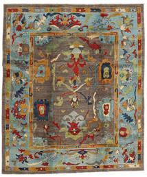 Kazak Matta 244X290 Äkta Orientalisk Handknuten Brun/Ljusgrå (Ull, Afghanistan)