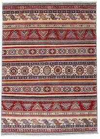 Kazak Matta 116X160 Äkta Orientalisk Handknuten Mörkröd/Mörkbrun (Ull, Afghanistan)