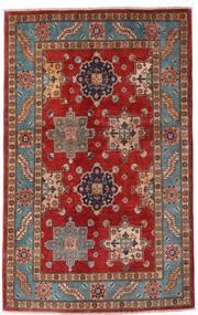 Kazak Matta 118X188 Äkta Orientalisk Handknuten Mörkröd/Mörkbrun (Ull, Afghanistan)