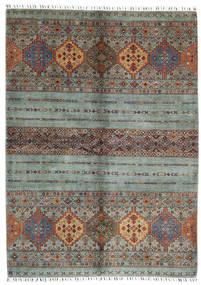 Shabargan Matta 172X237 Äkta Modern Handknuten Mörkgrå/Ljusgrå (Ull, Afghanistan)