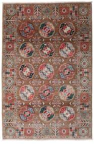 Kazak Matta 117X176 Äkta Orientalisk Handknuten Mörkröd/Mörkbrun (Ull, Afghanistan)