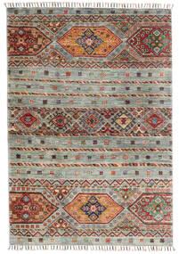 Shabargan Matta 103X148 Äkta Modern Handknuten Ljusgrå/Mörkgrå (Ull, Afghanistan)
