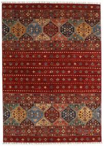 Shabargan Matta 173X244 Äkta Modern Handknuten Mörkröd/Röd (Ull, Afghanistan)