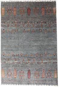 Shabargan Matta 207X303 Äkta Modern Handknuten Mörkgrå/Blå (Ull, Afghanistan)