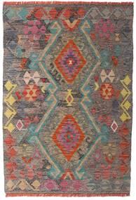 Kelim Afghan Old Style Matta 98X146 Äkta Orientalisk Handvävd Ljusbrun/Ljusgrå (Ull, Afghanistan)