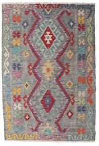 Kelim Afghan Old Style Matta 100X148 Äkta Orientalisk Handvävd Ljusgrå/Mörkgrå (Ull, Afghanistan)