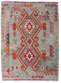 Kelim Afghan Old Style Matta 109X136 Äkta Orientalisk Handvävd Ljusgrå/Ljusbrun (Ull, Afghanistan)