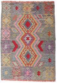 Kelim Afghan Old Style Matta 102X147 Äkta Orientalisk Handvävd Ljusgrå/Mörkgrå (Ull, Afghanistan)