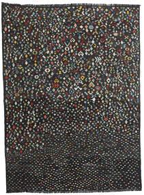 Kelim Moderna Matta 214X288 Äkta Modern Handvävd Svart (Ull, Afghanistan)