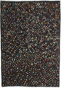 Kelim Moderna Matta 204X287 Äkta Modern Handvävd Svart (Ull, Afghanistan)