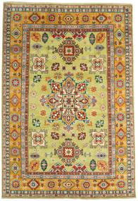 Kazak Matta 206X302 Äkta Orientalisk Handknuten Gul/Mörkröd (Ull, Afghanistan)