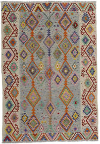 Kelim Afghan Old Style Matta 200X287 Äkta Orientalisk Handvävd Ljusgrå/Ljusbrun (Ull, Afghanistan)