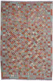 Kelim Afghan Old Style Matta 199X296 Äkta Orientalisk Handvävd Mörkgrå/Ljusgrå (Ull, Afghanistan)