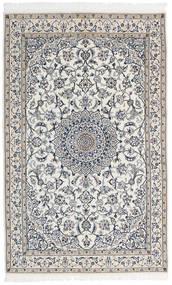 Nain 9La Matta 127X202 Äkta Orientalisk Handknuten Ljusgrå/Mörkgrå/Beige (Ull/Silke, Persien/Iran)