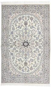Nain 9La Matta 130X208 Äkta Orientalisk Handknuten Ljusgrå/Mörkgrå (Ull/Silke, Persien/Iran)
